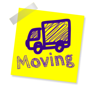 moving truck on a post-it