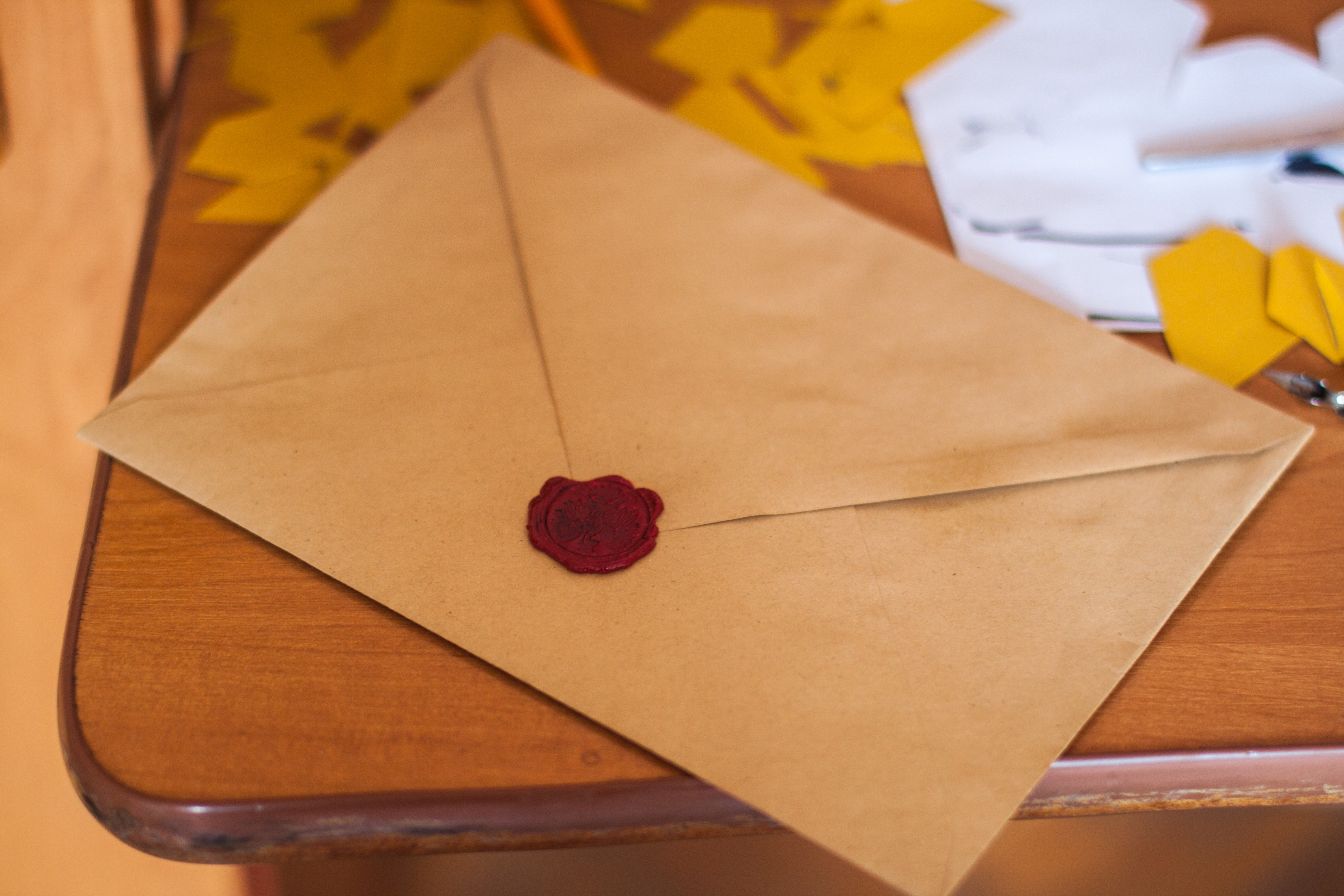 An envelope - learn how to send envelopes and packages