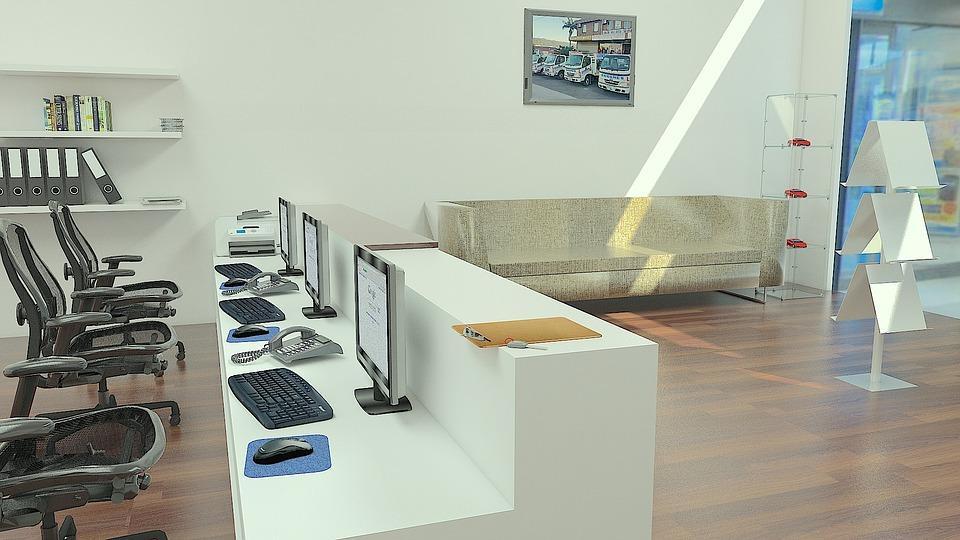 Open-space office.