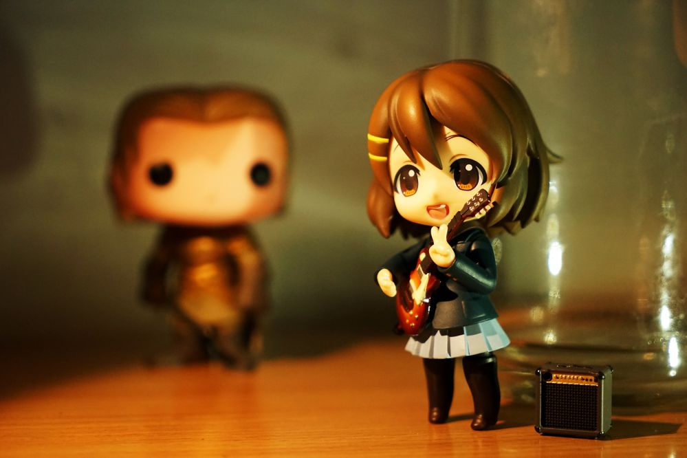 An anime figurines that you can see in museums in Tokyo