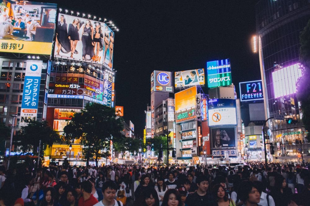 Tokyo crowd.
