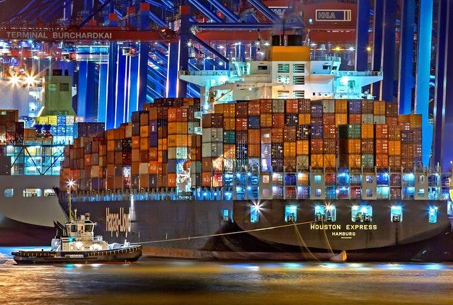A big cargo ship