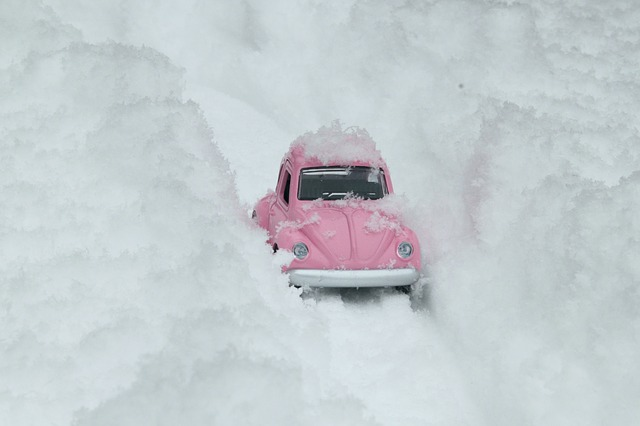 A car in snow.