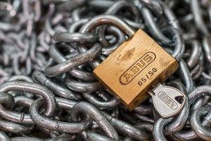 chains with padlock