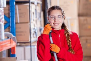 Warehouse organization ideas - hire a cleaning crew regularly.