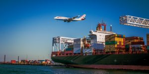 Air-sea freight forwarding - a plane and a boat