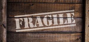 Box with fragile items