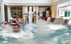 Flood in a living room