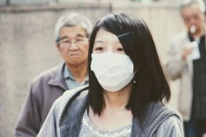 Flu mask for protection of virus