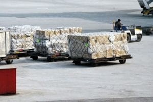 Cargo prepared for shipping when relocating overseas on a budget