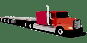 Illustration of a flatbed truck
