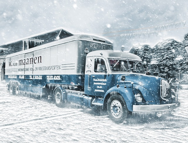 Truck moving to a colder climate