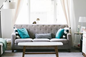 Living room -one of our pre-storage downsizing tips is getting rid of bulky furniture first