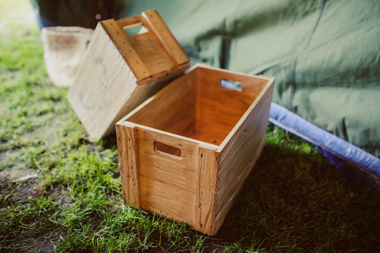 Another one of our eco-friendly overseas packing tips - use these kinds of wooden crates