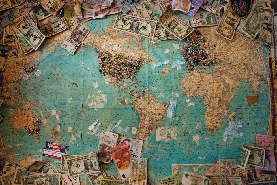 Create a Budget for Your International Move with dolar bans on the map