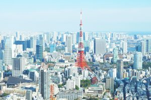 aerial photo of Tokyo
