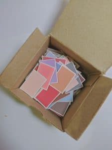 A box with papers