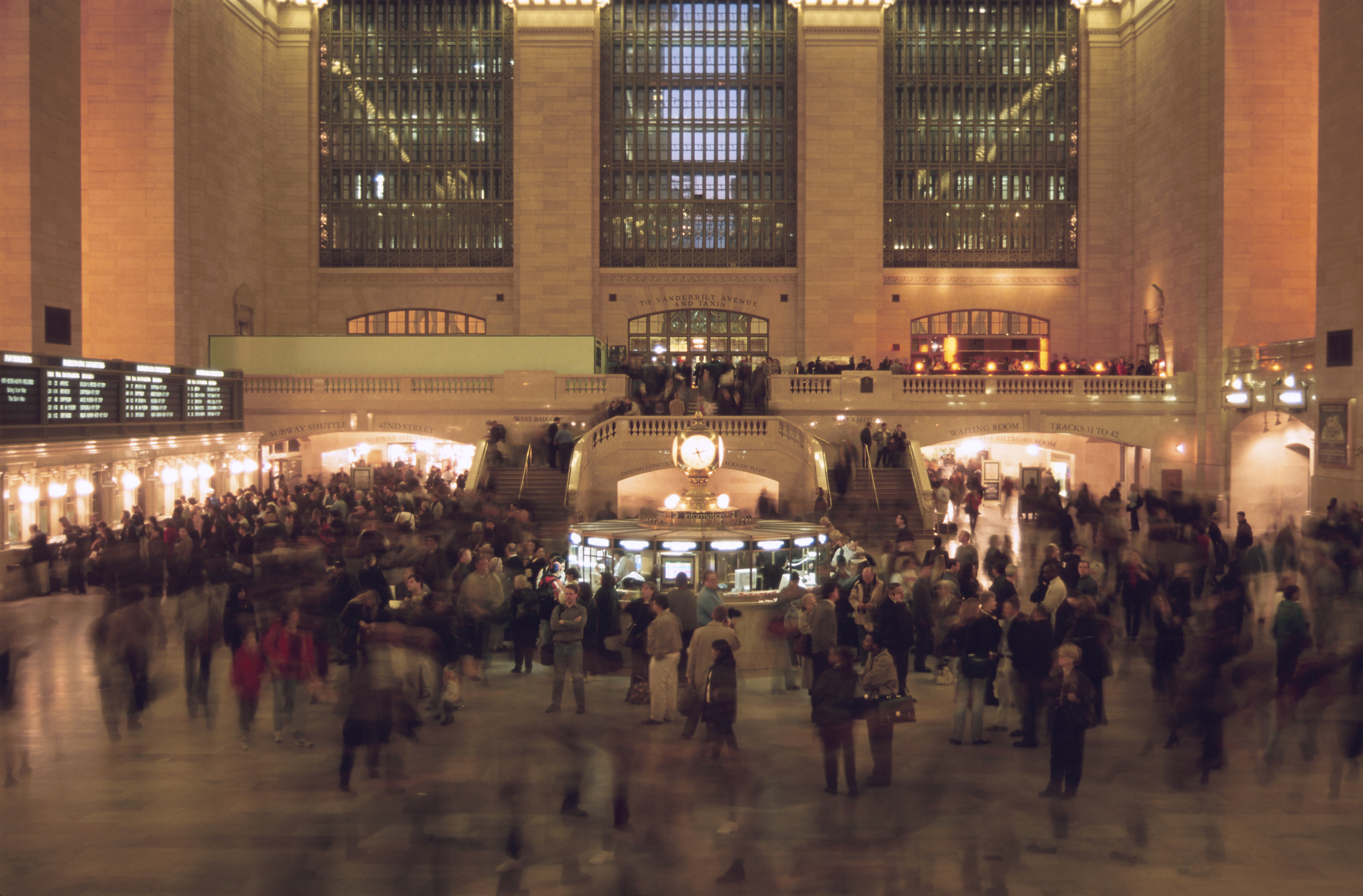 a station crowded with people