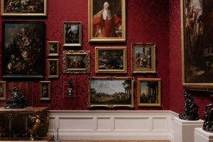 different valuable paintings on the wall