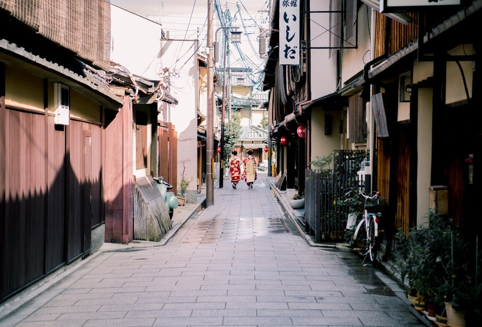 a small Japanese street